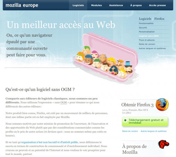Version française : Logiciel sans OGM