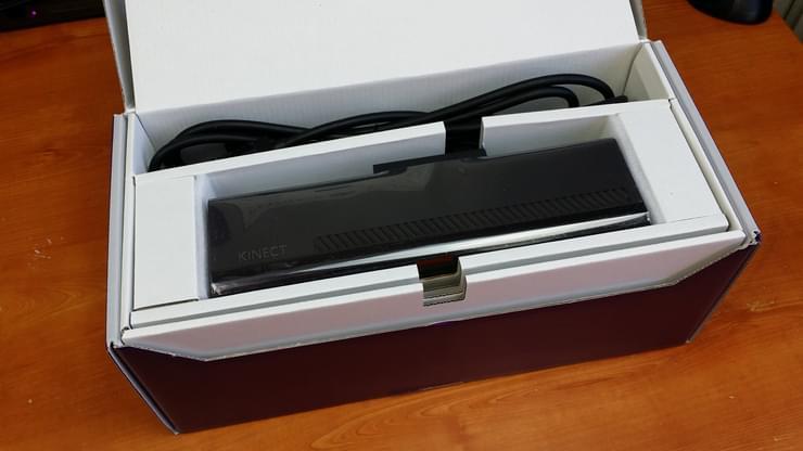 Kinect pour Windows v2 depuis sa boîte ouverte