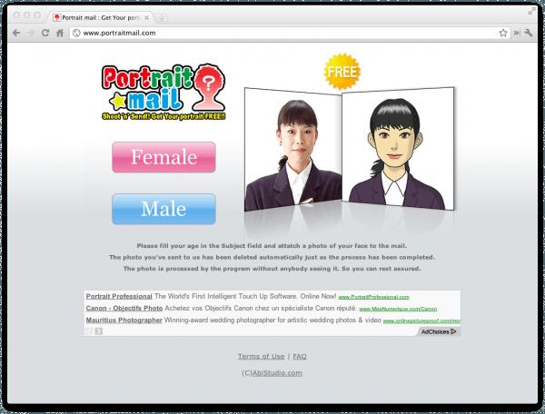 Portrait Mail est un service automatique de création d'avatars à partir d'une photo d'identité