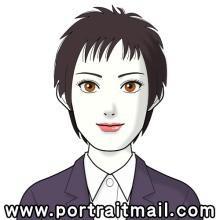 L'avatar généré automatiquement par Portrait Mail à partir de la photographie d'exemple n'a pas grand rapport avec cette dernière