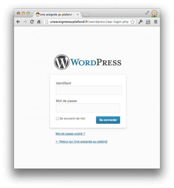 WordPress (login)