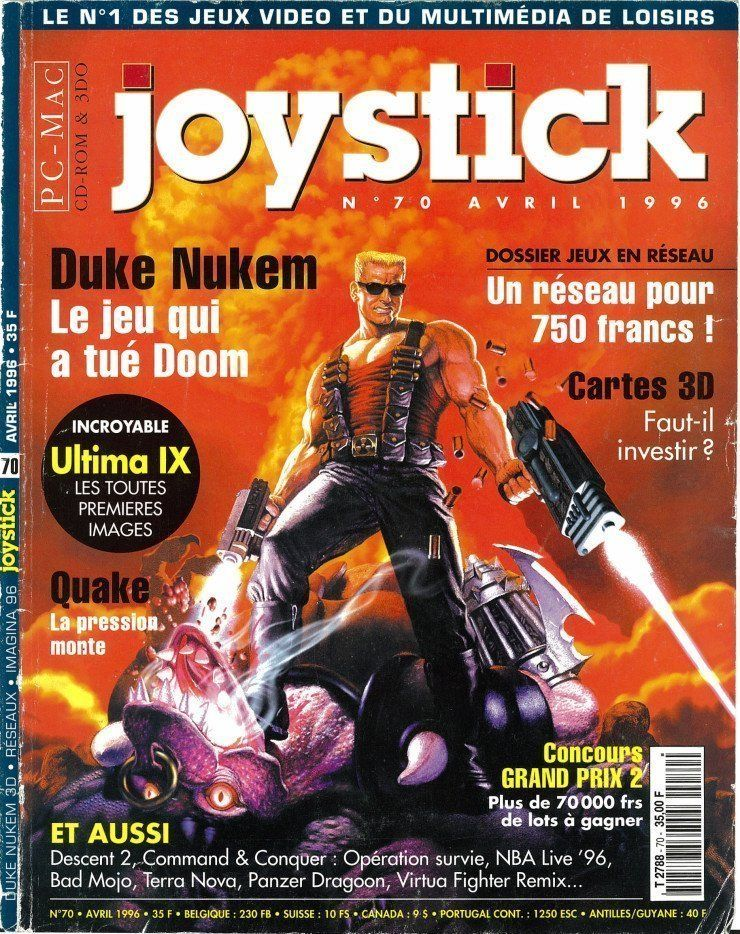 Joystick d'avril 1996 avec en couverture Duke Nukem