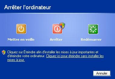 Windows : éteindre ou arrêter ?