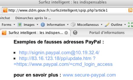 Surfez intelligent ou les boulettes en sécurité informatique de l'Etat français