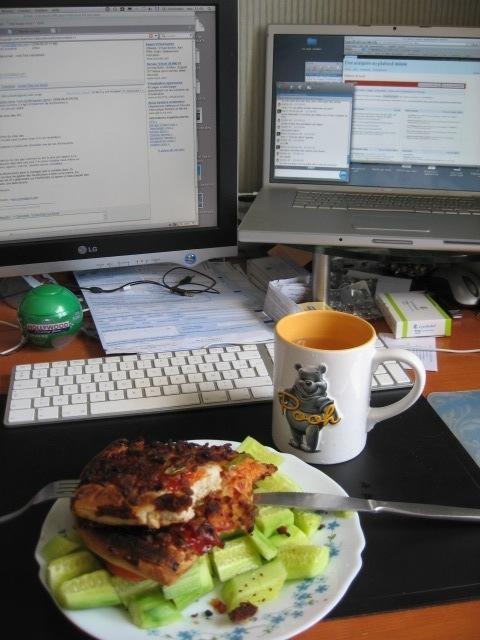 Déjeuner de geek typique