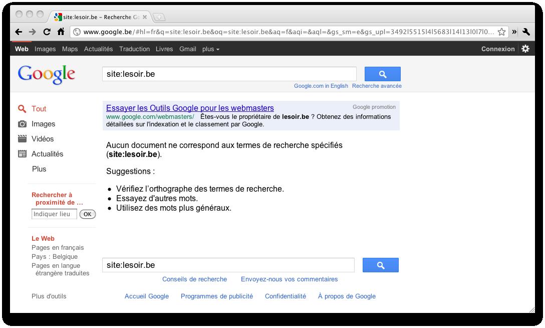 Faut-il s'émouvoir de la disparition de la presse belge des résultats de Google ?