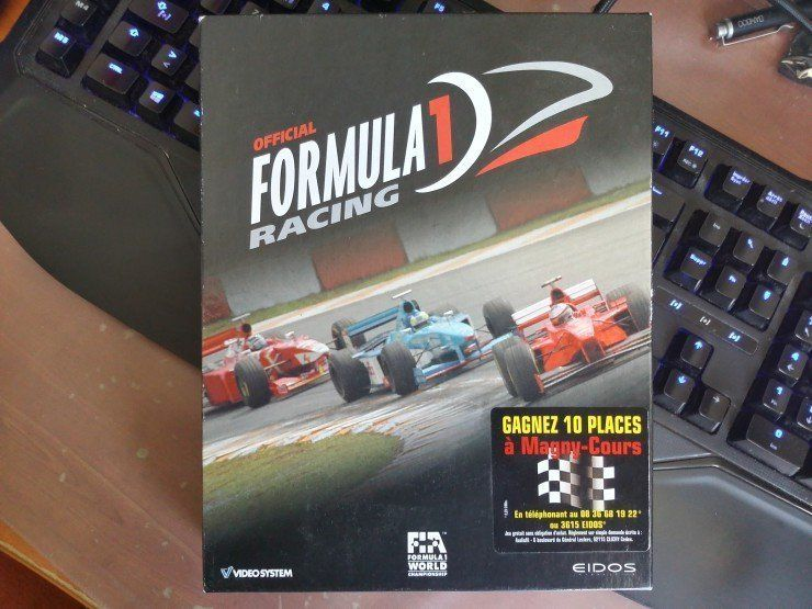 Boîte du jeu vidéo Official Formula 1 Racing de Lankhor
