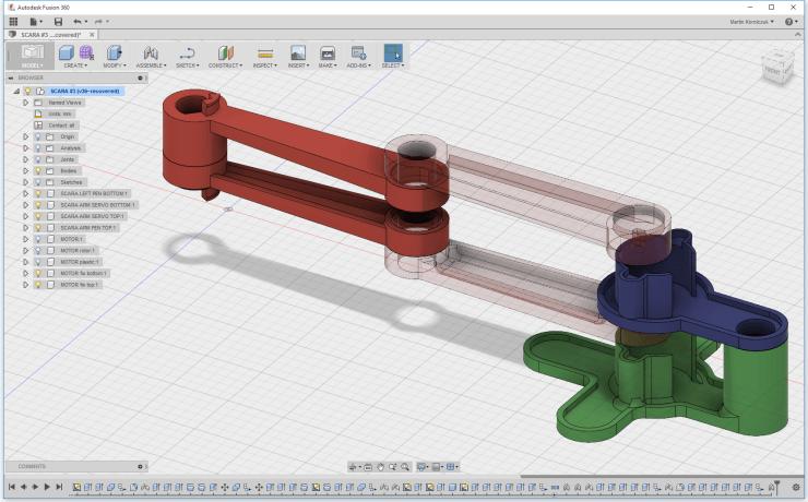 Capture d'écran de l'outil de CAO Autodesk Fusion 360